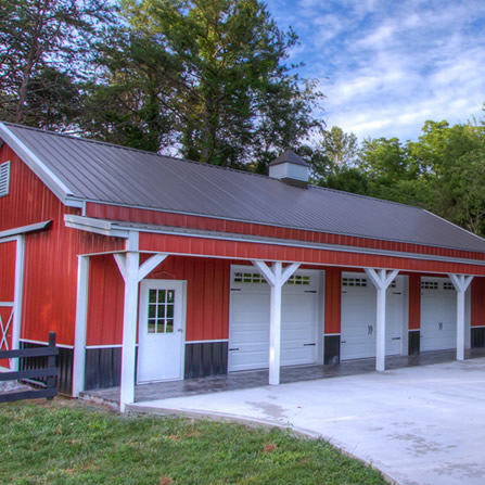 Welcome to national barn company pole barns horse barns for Pole garage pictures
