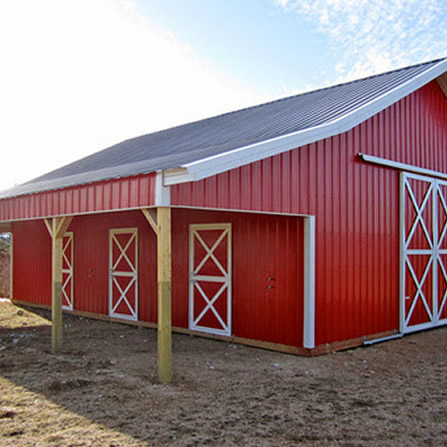Pole barns easy pole barn free quote midwest manufacturing for 32x48 pole barn