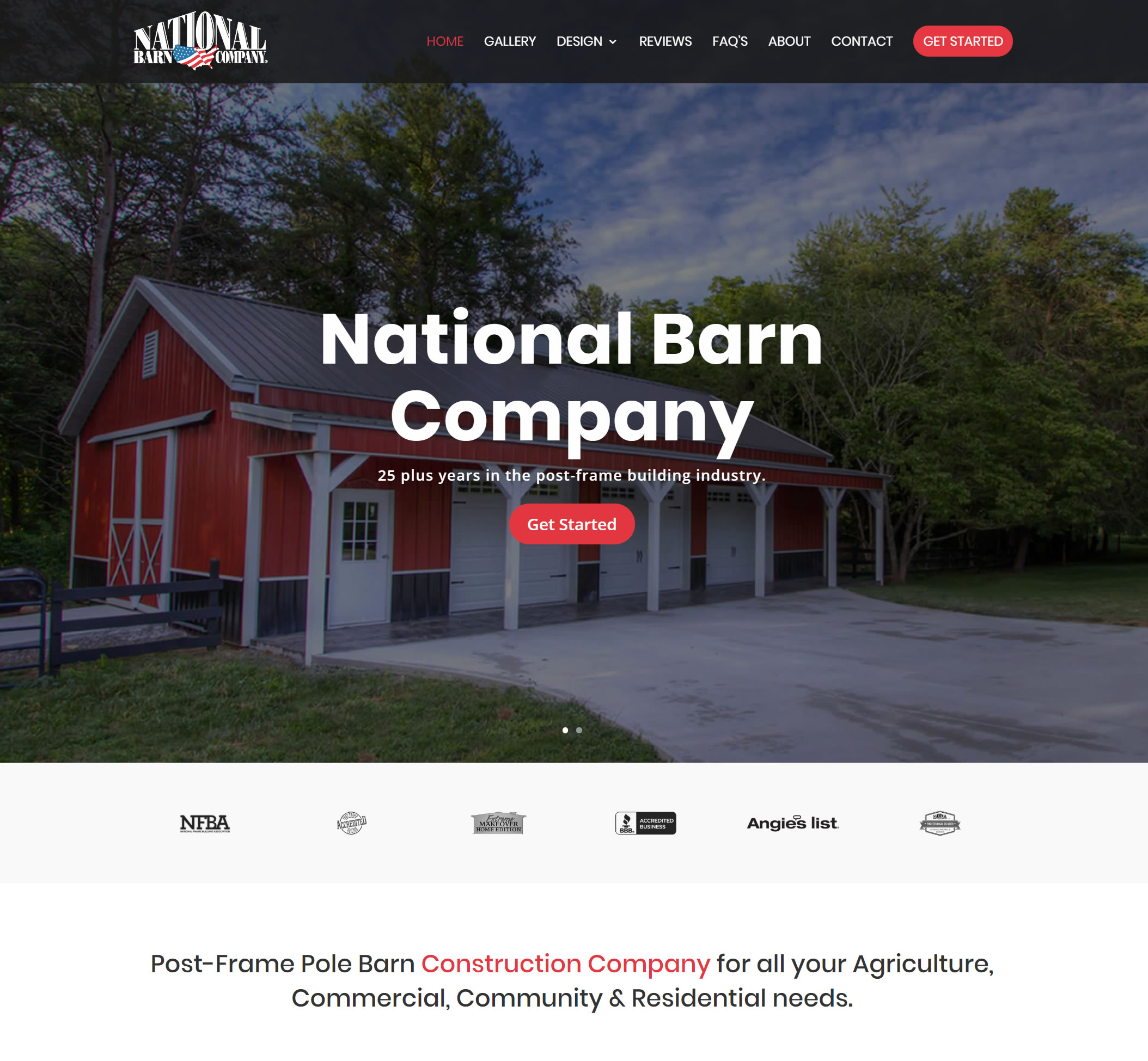 Start Welcome To National Barn Company